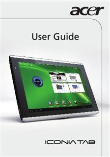 Acer Iconia Tab A 500 manual