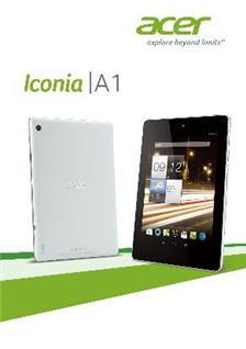 Acer Iconia A 1 manual