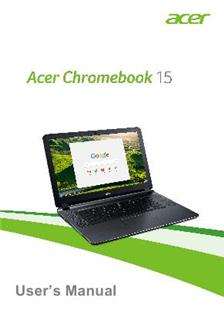 Acer Chromebook 15 CB3 532 manual