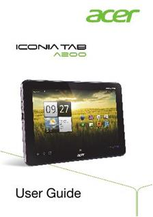 Acer Iconia Tab A 200 manual
