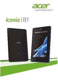 Acer Iconia B 1 manual