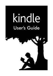 Amazon Kindle Paperwhite manual