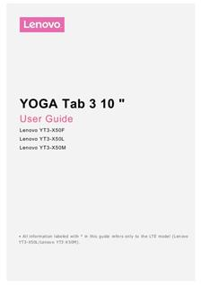 Lenovo Yoga Tab 3 10 manual